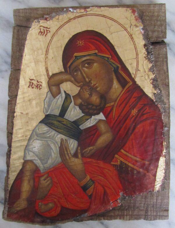 Icono religioso virgen