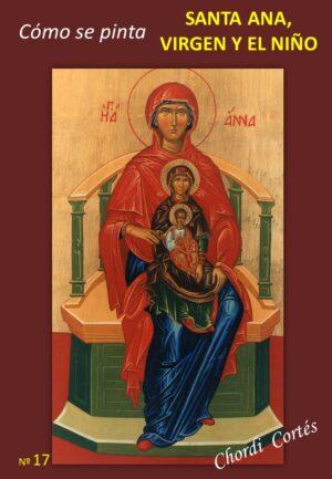 como se pinta santa ana, virgen y el niño