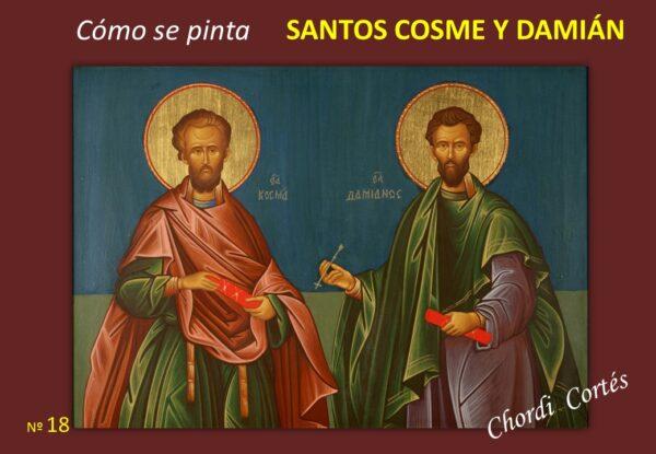 como se pinta santos cosme y damian