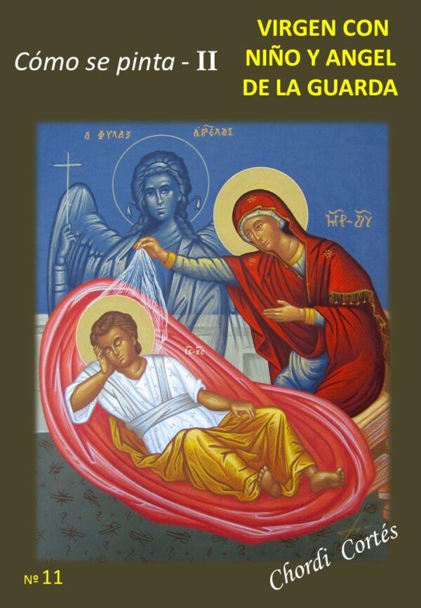 como se pinta ii virgen con niño y angel de la guarda