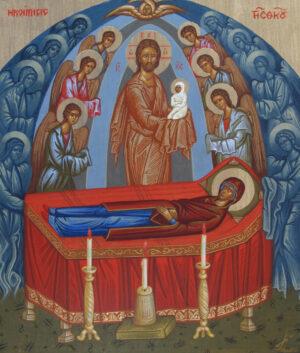 Icono Dormición de la Virgén