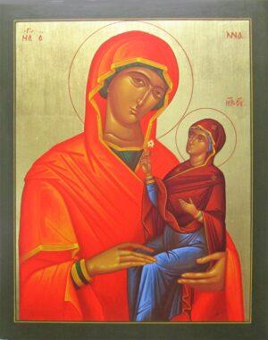 Icono Santa y la Virgen