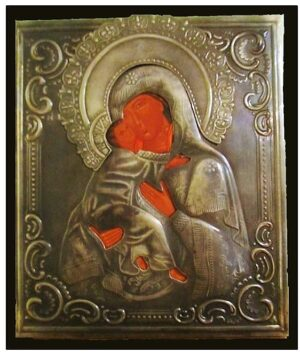 Virgen de Vladimir Plata