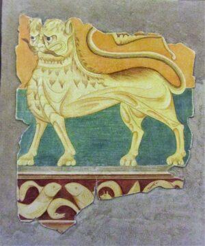 Pintura León y Friso con Peces