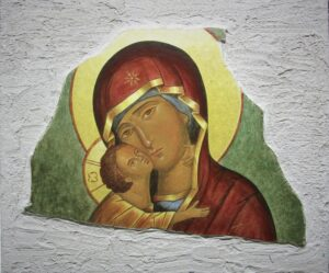 Pintura Virgen de Vladimir
