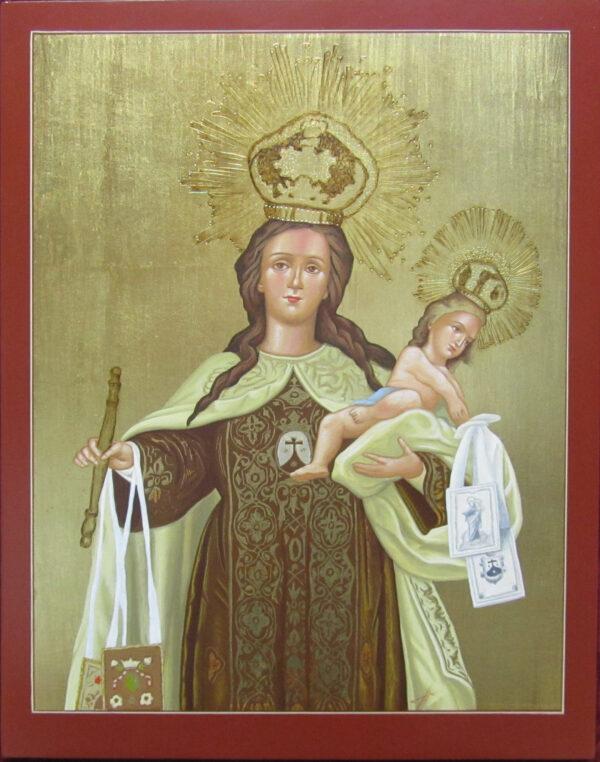 Pintura Virgen del Carmen