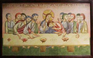 Pintura Santa Cena Románica