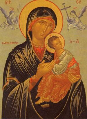 Reproducción icono Virgen del Perpetuo Socorro
