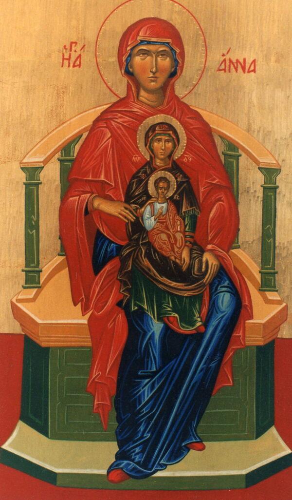 icono santa ana, la virgen y el niño