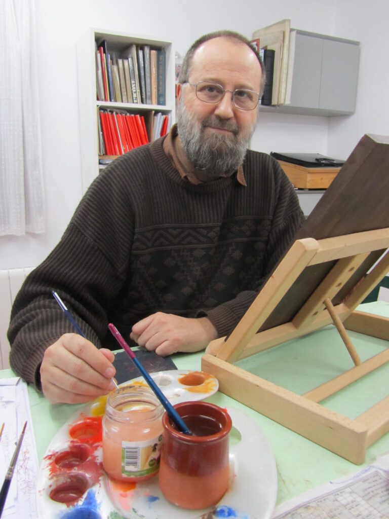 Chordi Cortés pintor de iconos