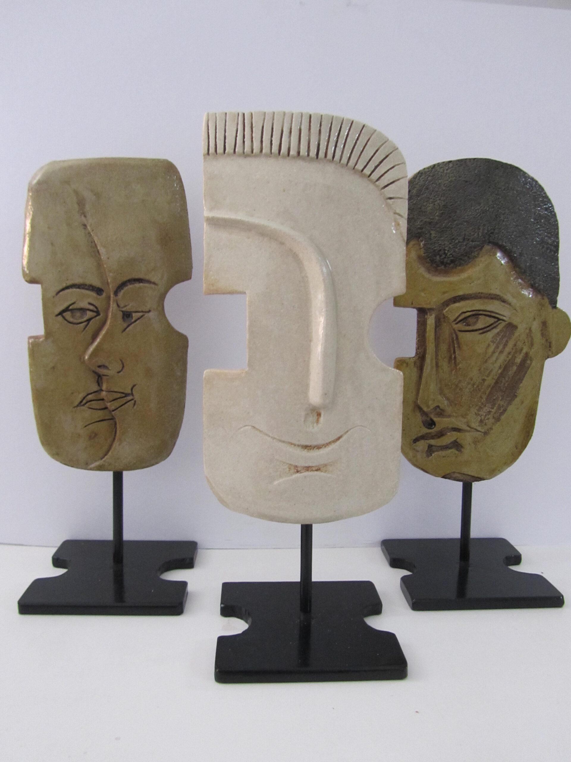 Mascaras esmaltadas, cocción de alta temperatura